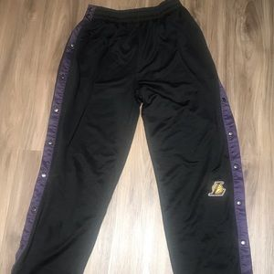 NBA Pants - Men's NBA Lakers Tear Away Sweatpants L